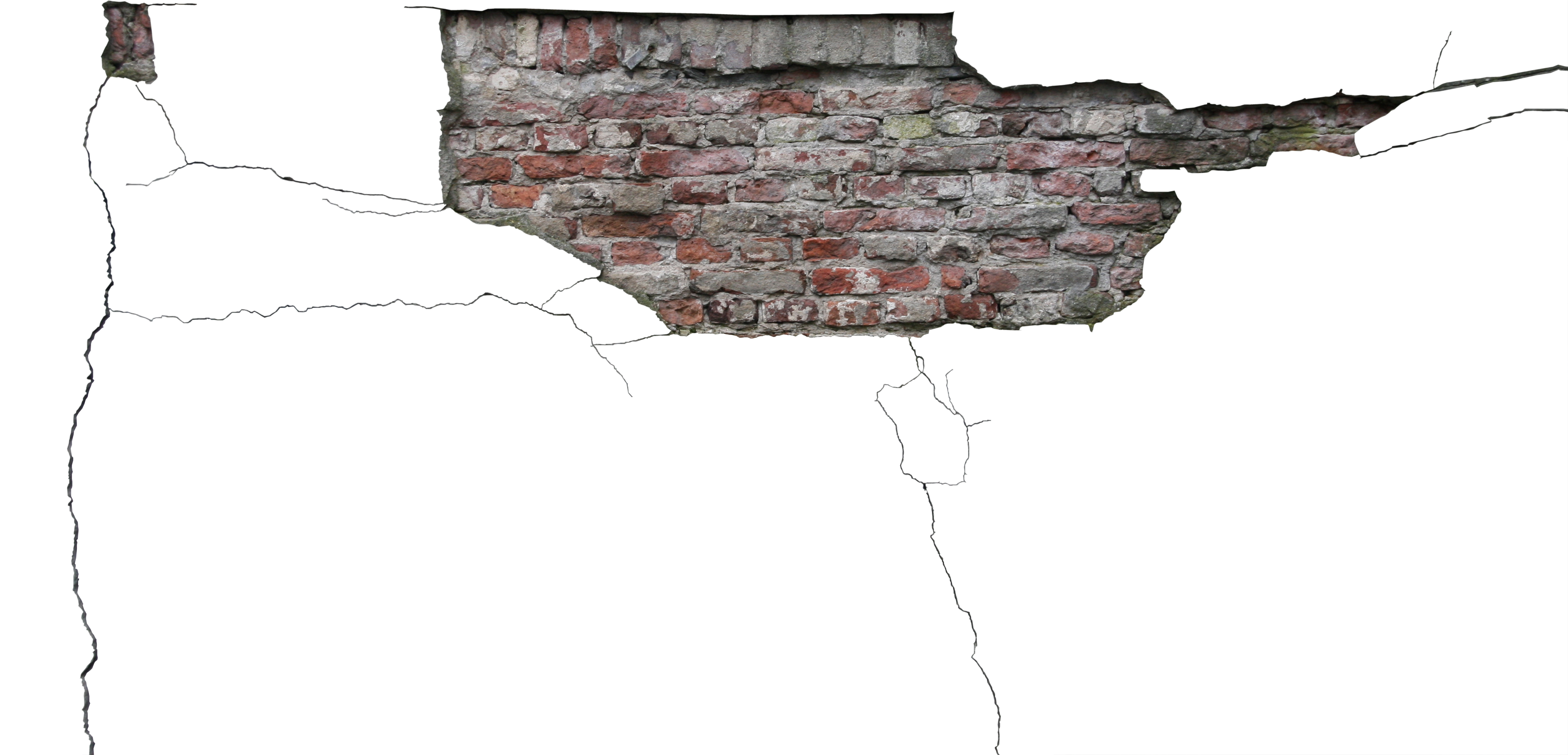 High Quality Cracked Stucco With Exposed Brick Decals - Stucco Decal Textures | High Quality ...